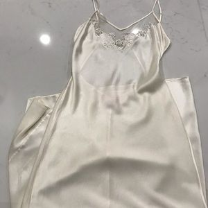 VS  full length Silk gown with pearl detail size M